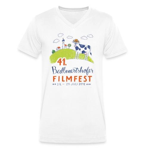 41. Filmfest hell - Männer Bio-T-Shirt mit V-Ausschnitt von Stanley & Stella