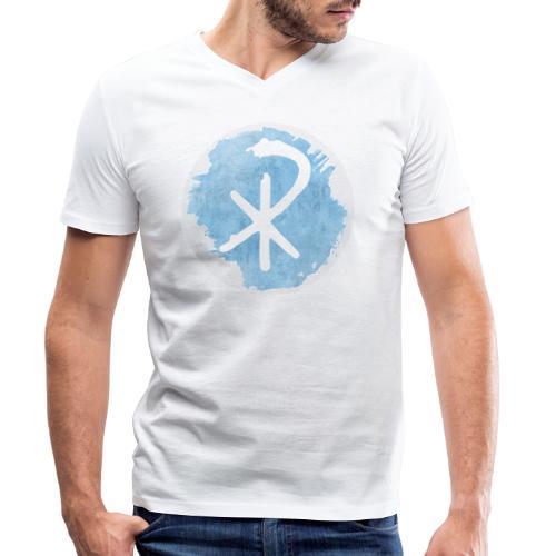 CHI RHO - Männer Bio-T-Shirt mit V-Ausschnitt von Stanley & Stella