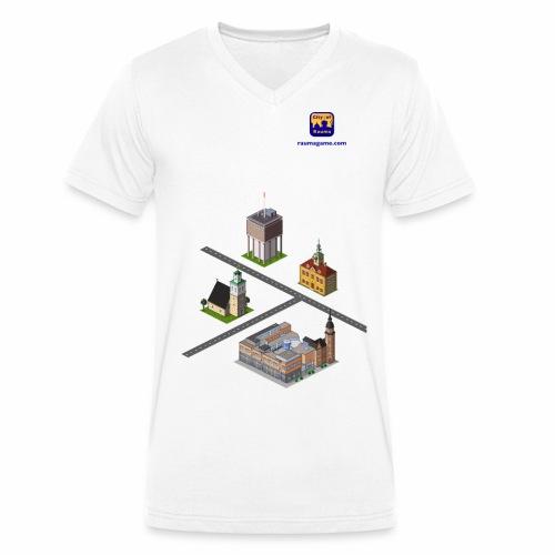 Raumagame mix for white / bale bg - Men's Organic V-Neck T-Shirt by Stanley & Stella