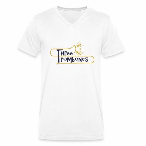 312 Trombones Logo Striche - Männer Bio-T-Shirt mit V-Ausschnitt von Stanley & Stella