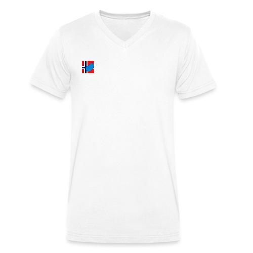 NorPot SAS ACE - Økologisk T-skjorte med V-hals for menn fra Stanley & Stella