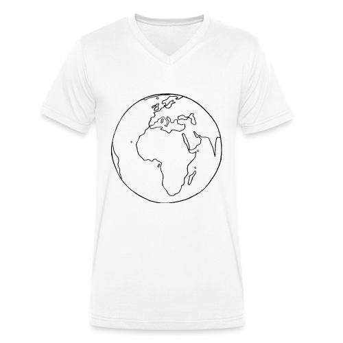 Mutter Erde - Männer Bio-T-Shirt mit V-Ausschnitt von Stanley & Stella