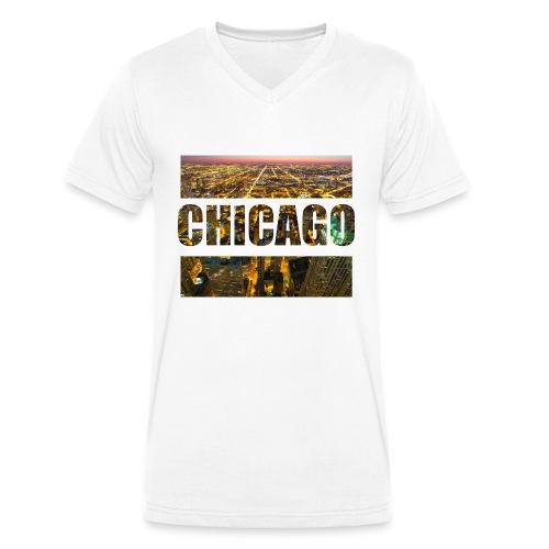 Chicago - Männer Bio-T-Shirt mit V-Ausschnitt von Stanley & Stella