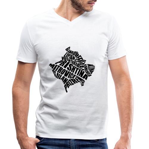 Kosovo Land mit allen Städten - Männer Bio-T-Shirt mit V-Ausschnitt von Stanley & Stella