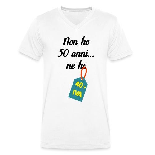 Compleanno 50 anni più IVA - T-shirt ecologica da uomo con scollo a V di Stanley & Stella