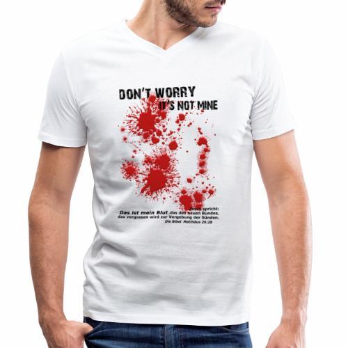 don´t worry - Männer Bio-T-Shirt mit V-Ausschnitt von Stanley & Stella