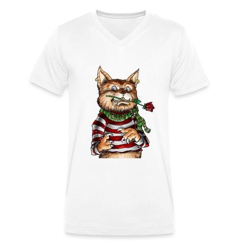 T-shirt - Crazy Cat - T-shirt bio col V Stanley & Stella Homme