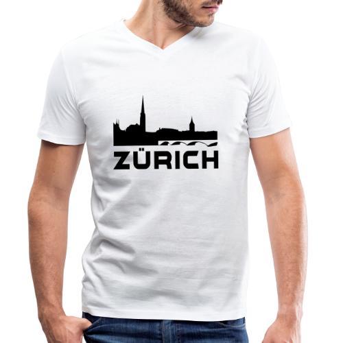 Zürich - Männer Bio-T-Shirt mit V-Ausschnitt von Stanley & Stella
