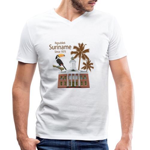 Gebouw Financiën - Mannen bio T-shirt met V-hals van Stanley & Stella