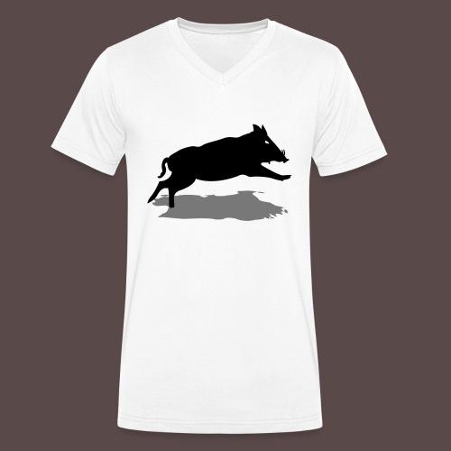 Sardegna Cinghiale - T-shirt ecologica da uomo con scollo a V di Stanley & Stella