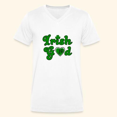 Irish God - Men's Organic V-Neck T-Shirt by Stanley & Stella