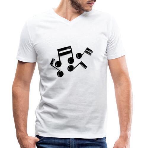 Musik Symbol Noten Musiker Musikerin spielen - Männer Bio-T-Shirt mit V-Ausschnitt von Stanley & Stella