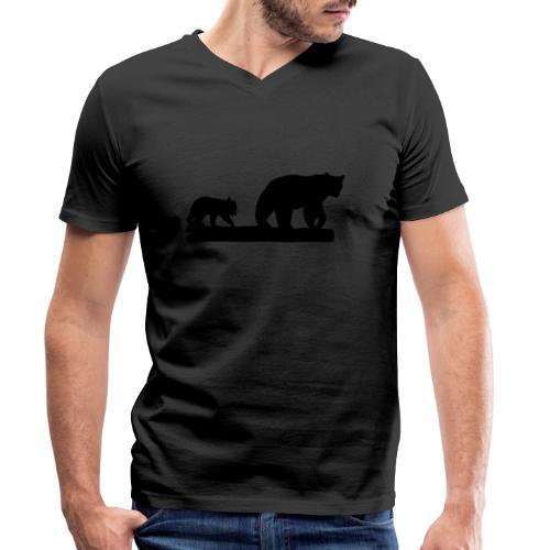 Bären Bär Grizzly Wildnis Natur Raubtier - Männer Bio-T-Shirt mit V-Ausschnitt von Stanley & Stella