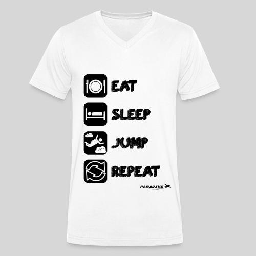 EatSleepJumpRepeat - T-shirt bio col V Stanley & Stella Homme