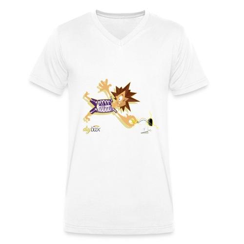 Electric Shock - Männer Bio-T-Shirt mit V-Ausschnitt von Stanley & Stella