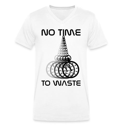 No time png - Männer Bio-T-Shirt mit V-Ausschnitt von Stanley & Stella