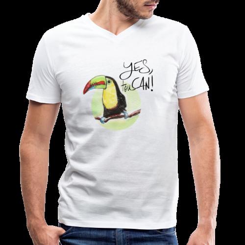 yes, toucan - Männer Bio-T-Shirt mit V-Ausschnitt von Stanley & Stella