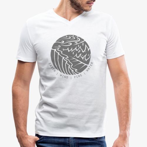 Earth | Wind | Fire | Water - Männer Bio-T-Shirt mit V-Ausschnitt von Stanley & Stella