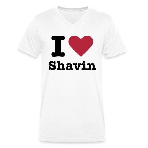 I Love Shavin - Männer Bio-T-Shirt mit V-Ausschnitt von Stanley & Stella