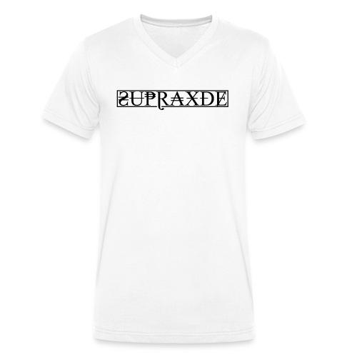 SupraxDE Logo Schwarz - Männer Bio-T-Shirt mit V-Ausschnitt von Stanley & Stella