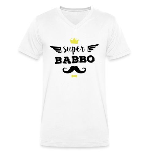 Super Babbo - T-shirt ecologica da uomo con scollo a V di Stanley & Stella