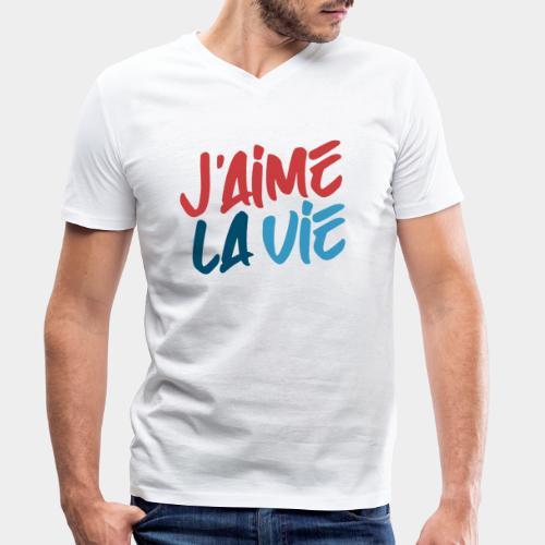 Ich liebe das Leben - T-shirt bio col V Stanley & Stella Homme