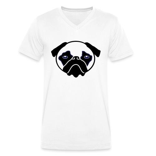 Mops, Hund - Männer Bio-T-Shirt mit V-Ausschnitt von Stanley & Stella