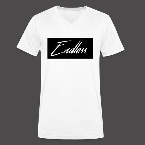 Endless Black - Männer Bio-T-Shirt mit V-Ausschnitt von Stanley & Stella