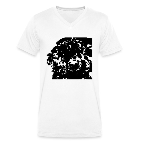 Doodlewelpe - Männer Bio-T-Shirt mit V-Ausschnitt von Stanley & Stella