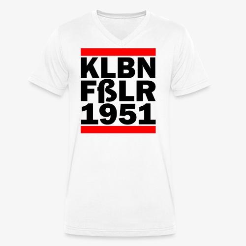 GUEST KLBNFßLER 1951 black - Männer Bio-T-Shirt mit V-Ausschnitt von Stanley & Stella