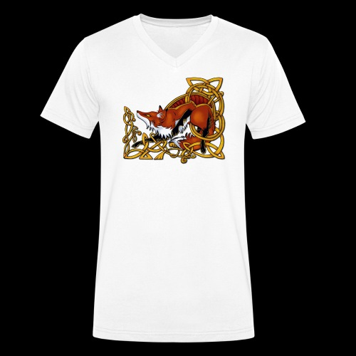 Celtic Fox - Men's Organic V-Neck T-Shirt by Stanley & Stella