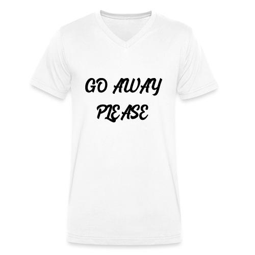 Go Away Please - Männer Bio-T-Shirt mit V-Ausschnitt von Stanley & Stella