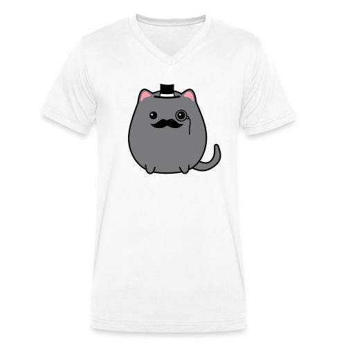 Gentleman Katze - Männer Bio-T-Shirt mit V-Ausschnitt von Stanley & Stella