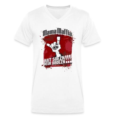 Mama Maffia Nait Soezn - Mannen bio T-shirt met V-hals van Stanley & Stella