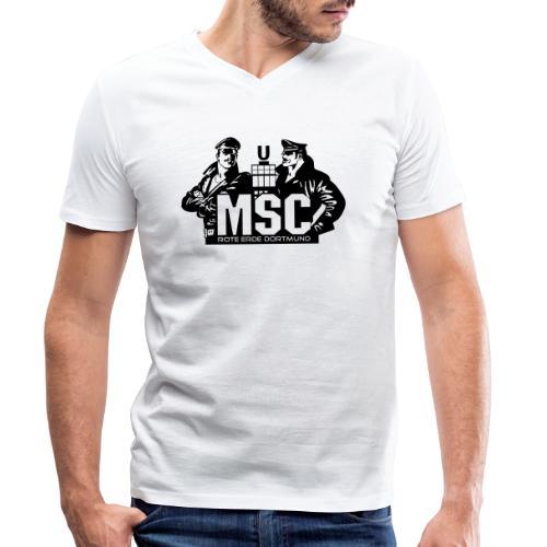 MSC logo spreadshirt - Männer Bio-T-Shirt mit V-Ausschnitt von Stanley & Stella