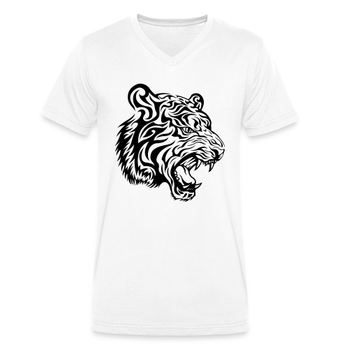 Tiger - Men's Organic V-Neck T-Shirt by Stanley & Stella
