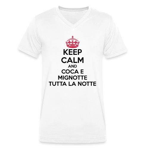 Coca e Mignotte Keep Calm - T-shirt ecologica da uomo con scollo a V di Stanley & Stella