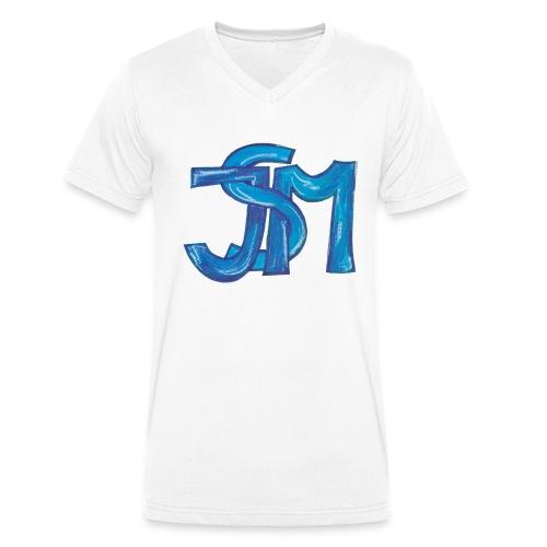 verschlungenes S blau - Männer Bio-T-Shirt mit V-Ausschnitt von Stanley & Stella