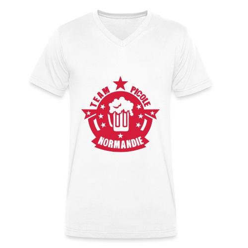 normandie team picole biere logo - T-shirt bio col V Stanley & Stella Homme