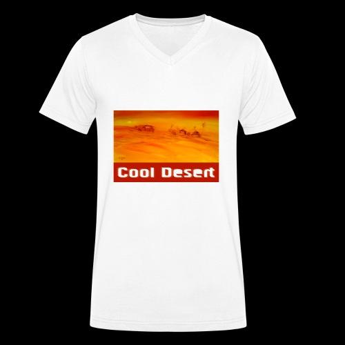Cool Desert Sahara Motiv - Männer Bio-T-Shirt mit V-Ausschnitt von Stanley & Stella