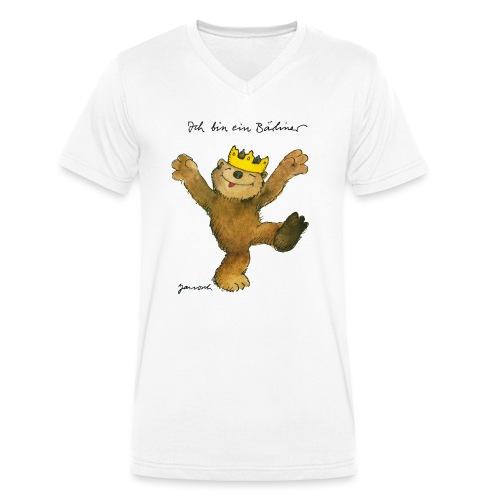 Janosch Kleiner Bär Ich Bin Ein Bärliner - Männer Bio-T-Shirt mit V-Ausschnitt von Stanley & Stella
