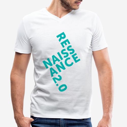 Covid Renaissance Quarantäne - Männer Bio-T-Shirt mit V-Ausschnitt von Stanley & Stella