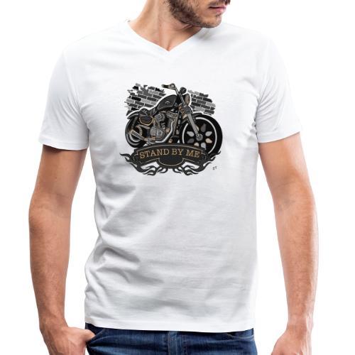 moto - T-shirt ecologica da uomo con scollo a V di Stanley & Stella