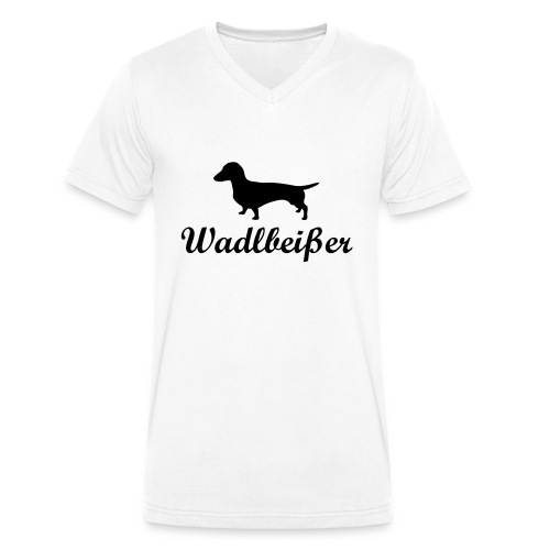 wadlbeisser_dackel - Männer Bio-T-Shirt mit V-Ausschnitt von Stanley & Stella