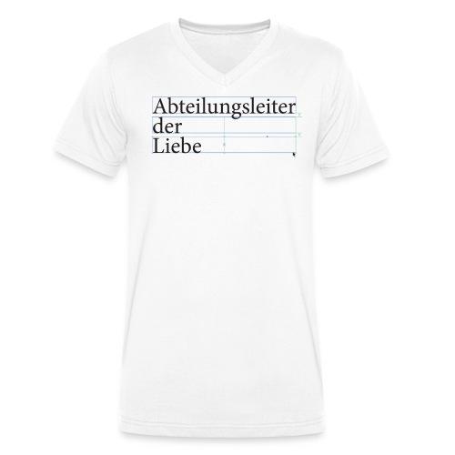 ab der liebe - Männer Bio-T-Shirt mit V-Ausschnitt von Stanley & Stella