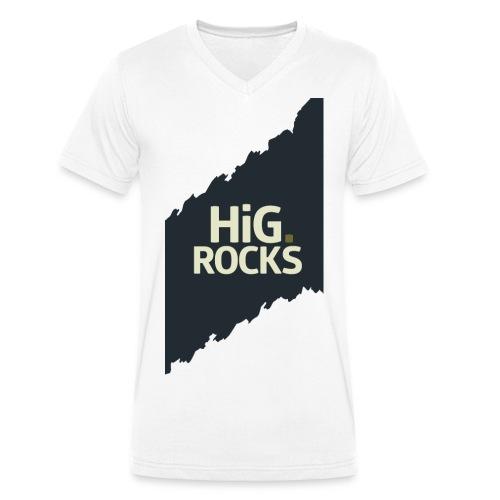 hig rocks mit bg png - Männer Bio-T-Shirt mit V-Ausschnitt von Stanley & Stella