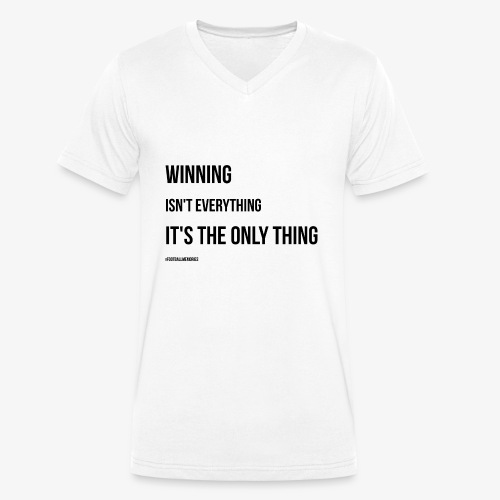 Football Victory Quotation - Men's Organic V-Neck T-Shirt by Stanley & Stella