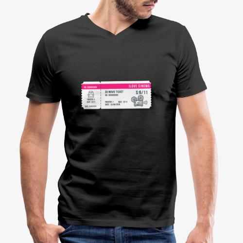 Cinema 2 - Camiseta ecológica hombre con cuello de pico de Stanley & Stella