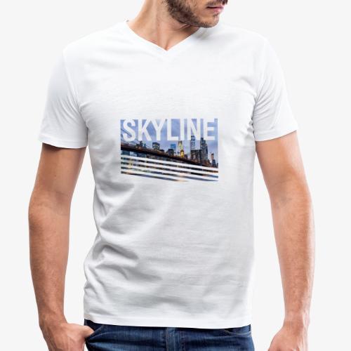 skyline - Camiseta ecológica hombre con cuello de pico de Stanley & Stella
