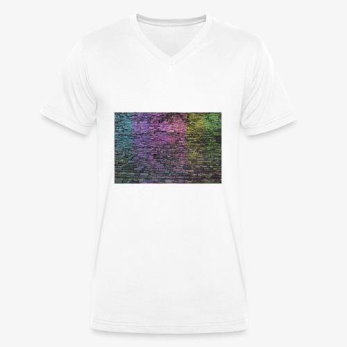 Regenbogenwand - Männer Bio-T-Shirt mit V-Ausschnitt von Stanley & Stella